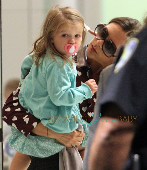 Victoria Beckham and Harper touch down in NYC