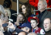 Victoria Beckham attends David Beckham ultimate match in Paris