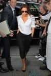 David Beckham takes Harper to Balthazar with Victoria Beckham in NYC after her fashion show