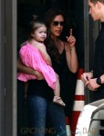 Victoria Beckham with daughter Harper at the Grove in LA