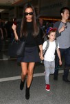 Victoria Beckham with son Cruz at LAX