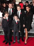Victoria and David Beckham with sons Brooklyn, Romeo and Cruz at Class of 92