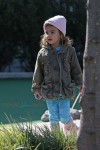 Camila Alves brings kids Levi, Vida and Livingston McConaughey to the mini-golf playground in Tribeca, NYC