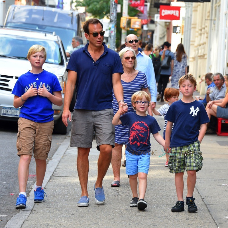 Will Arnett out in NYC with is sons Abel and Archie - Growing Your Baby : Growing Your Baby