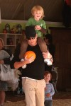 Will Arnett piggy backs son Abel at Mr Bones Pumpkin Patch