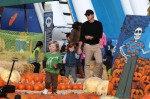 Will Arnett with his sons, Abel & Archibald at Mr. Bones Pumpkin Patch in Los Angeles