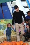 Will Arnett with son Archie at Mr Bones Pumpkin Patch