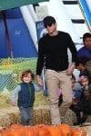 Will Arnett with son Archie at Mr Bones Pumpkin Patch