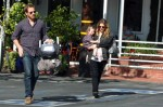 Will Kopelman, Pregnant Drew Barrymore and Olive Kopelman out for lunch LA