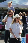 Will kopelman and Drew Barrymore at the market with daughter Olive