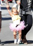 Pink & Family Out For Breakfast In Malibu
