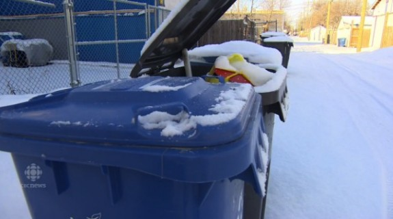 Winnipeg baby dumped in Recyling bin