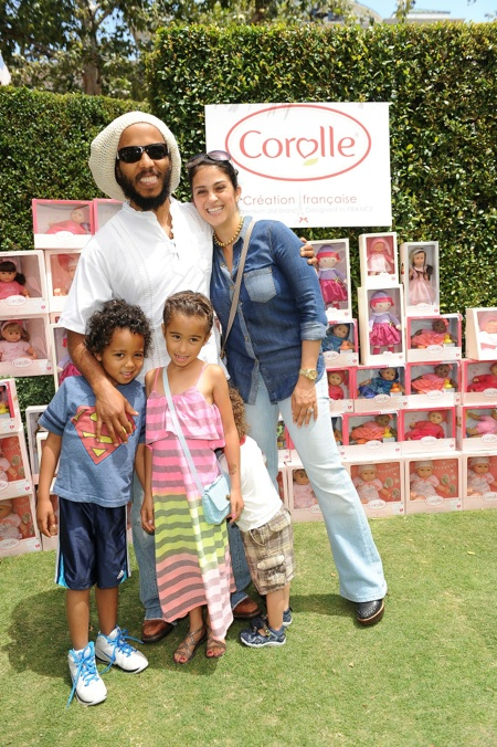 Ziggy Marley, wife Orly & family at Corolle event at the ...