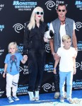 ZumaNesta Rock Rossdale, Gwen Stefani, Gavin Rossdale and Kingston Rossdale at the world premiere of 'Monsters University' held at the El Capitan Theatre in Hollywood