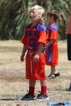 Zuma Rossdale plays soccer in LA