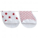aden + anais (RED) Special Edition burb bibs (2pk)