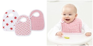 aden +anais (RED) Special Edition classic snap bibs (3 styles)