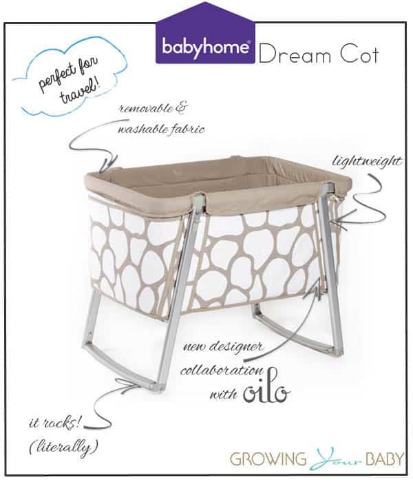 babyhome dream cot oilo collaboration