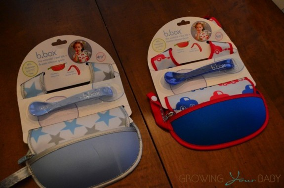 bbox travel bib + flexible spoon