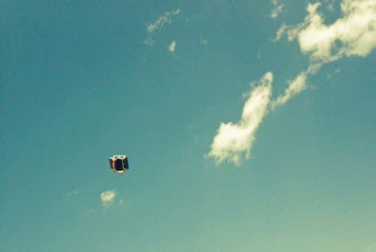 bouncy castle flies in the air