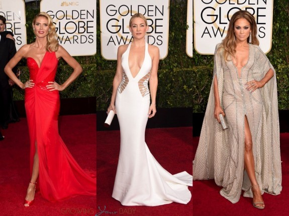celebrity moms at the 72nd annual Golden Globe Awards