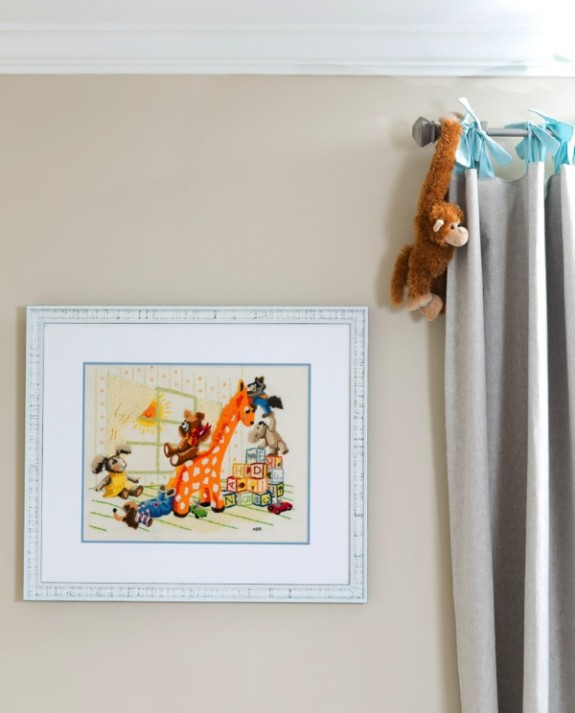 classic needlepoint Beverley Mitchell's daughter Kenzie's nursery
