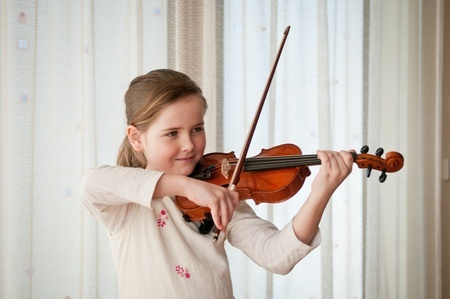 daughter playing violin