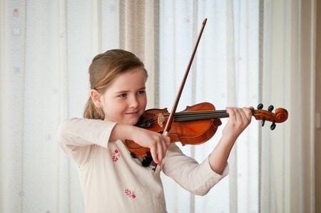 daughter playing violin