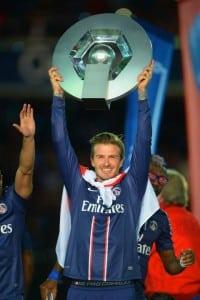 david beckham paris st germain Ligue 1 trophy
