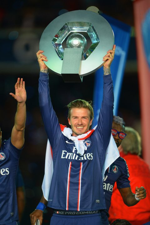 David Beckham Paris St Germain Ligue 1 Trophy Growing