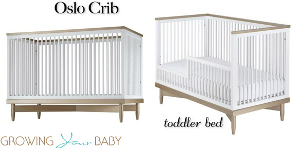 ducduc for nod Oslo Crib toddler bed conversion