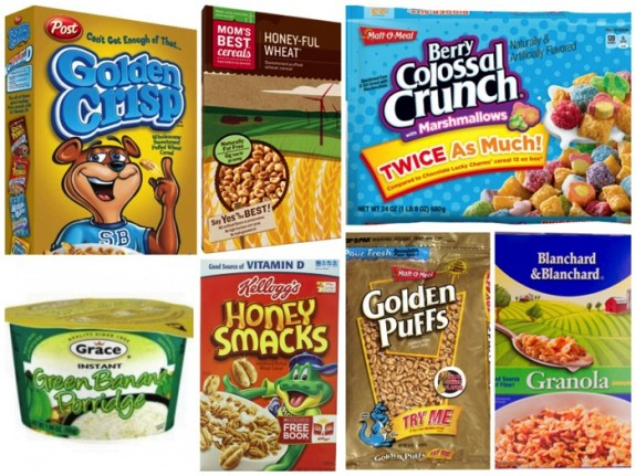 ewg sugary cereal list