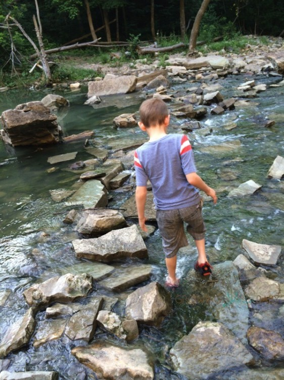exploring the falls in our Pediped Flex Delmar shoes