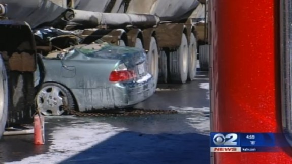 family lucky to survive being pinned under tanker in Utah