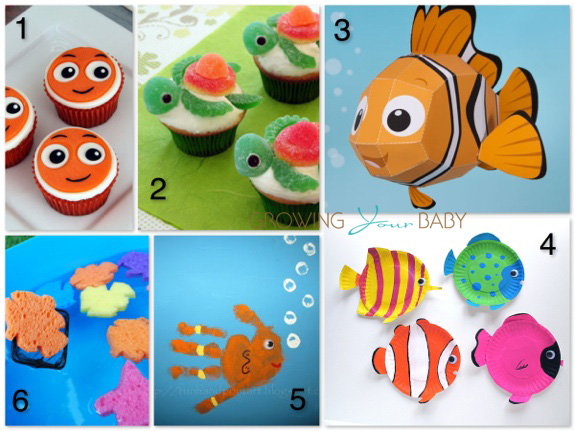 finding nemo themed crafts and snacks