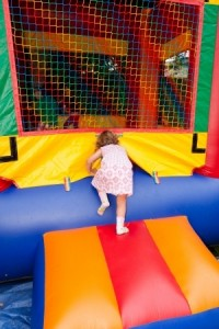 girl in bouncy castle