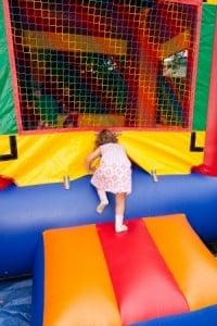 girl in bouncy castle