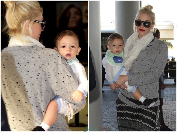 gwen stefani arrives at LAX with son Apollo1