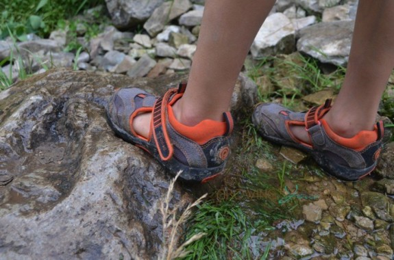 hiking the Bruce trail in our Pediped Flex Delmar shoes