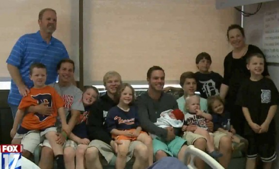 jay and kateri schwandt with their 12 boys