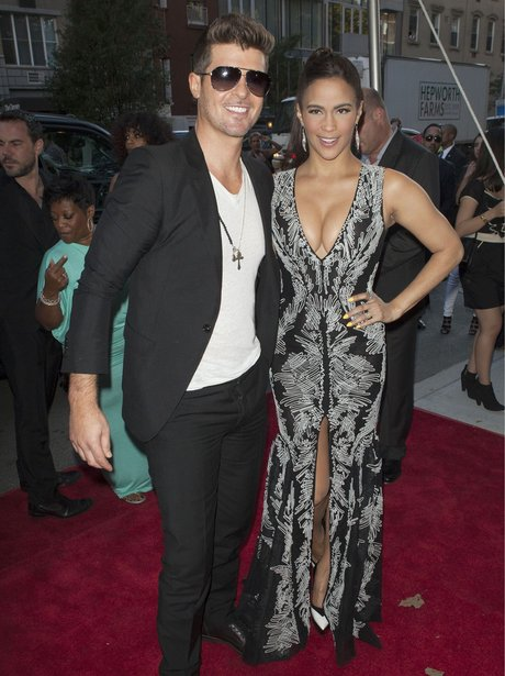 paula patton robin thicke 2 guns premiere