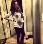 pregnant Danielle Jonas shows off her growing belly