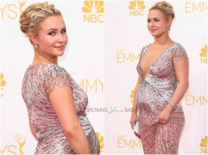 pregnant Hayden Panettiere at the 66th Annual Emmy Awards