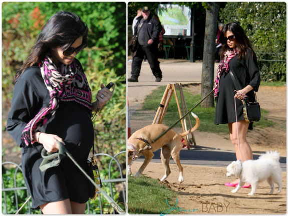 pregnant Jenna Dewan Tatum out in London
