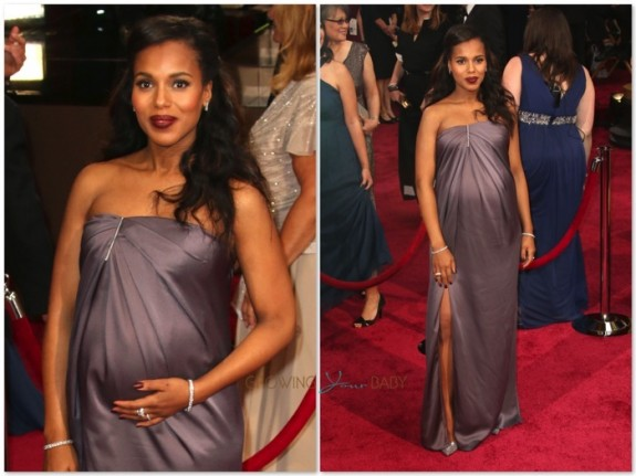 pregnant Kerry Washington at the 86th Annual Academy Awards