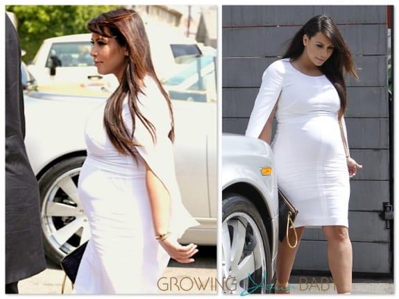 pregnant Kim Kardashian lunches with Kris Jenner in LA