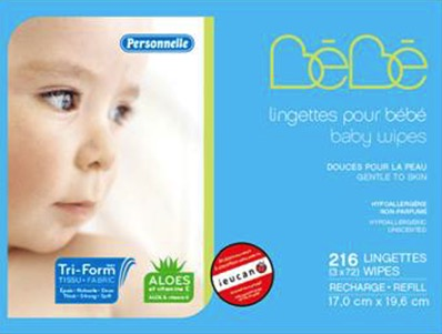 recalled personelle baby wipes