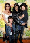 Rocker Slash, wife Perla Ferrar and boys Emilio and Cash
