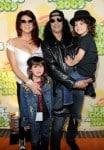Rocker Slash, wife Perla Ferrar and boys Emilio and Cash