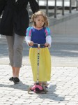 Hugh Jackman takes his daughter to the playground in NYC
